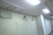 壁面換気扇 天井型へ更新 壁面開口 造作補修後復旧