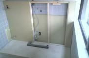 壁面 電気配線、設備配管埋設用造作