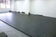 床面 OAフロアー施工 平場 敷き込み