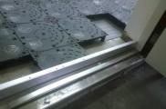 床面 OAフロアー施工 出入口 框施工