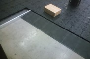 床面 OAフロアー施工 出入口 スロープ施工