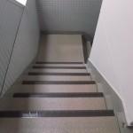 調布市5F Fマンション_階段施工後(シート張り)